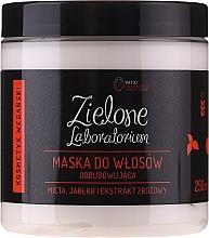 Възстановяваща маска за коса с екстракт от мента, ябълка и овес - Zielone Laboratorium — снимка N1