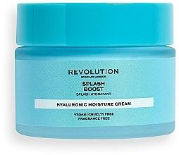 Парфюмерия и Козметика Овлажняващ крем за лице с хиалуронова киселина - Revolution Skincare Splash Boost with Hyaluronic Acid