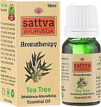 """Парфюми, Парфюмерия, козметика Етерично масло """"Чаено дърво"""" - Sattva Ayurveda Tea Tree Essential Oil"""