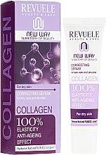 Парфюмерия и Козметика Серум за лице и околоочния контур - Revuele Collagen Face Anti-Wrinkle Serum Hydrate Firm Dry Skin