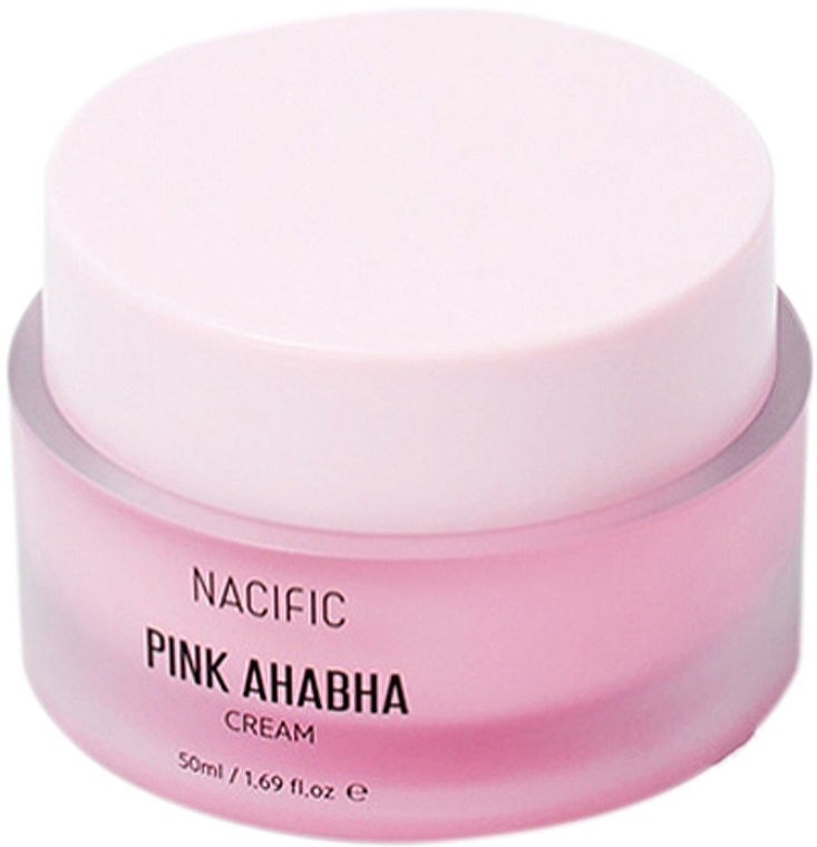 Крем за лице с екстракт от диня, АНА и ВНА киселини - Nacific Pink AHA BHA Cream