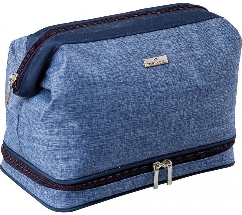 """Мъжка козметична чанта """"Travler"""", 97829, синя - Top Choice"""