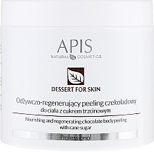 Парфюмерия и Козметика Пилинг за тяло - APIS Professional Dessert For Skin Nourishing And Regenerating Chocolate Body Peeling