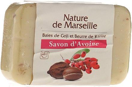 Овесен сапун с аромат на годжи бери и масло от шеа - Nature de Marseille Soap — снимка N1