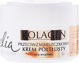 Парфюми, Парфюмерия, козметика Крем против бръчки за чувствителна кожа - Celia Collagen Cream