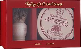 Парфюмерия и Козметика Комплект за бръснене - Taylor of Old Bond Street Cedarwood (четка + крем/150g)
