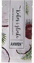 Парфюми, Парфюмерия, козметика Маска за ниска порьозност на косата - Anwen Low-Porous Hair Mask Coconut and Clay (мостра)