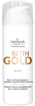 Парфюми, Парфюмерия, козметика Омекотяващ и изсветляващ крем за лице против стареене - Farmona Professional Retin Gold Smoothing & Illuminating Anti-Ageing Cream