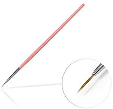 Парфюмерия и Козметика Четка за декорация на маникюр, 6 мм Pink - Silcare Brush 0