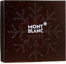 Парфюмерия и Козметика Montblanc Legend Night - Комплект (парф. вода/100ml + афтър. балсам/100ml + душ гел/100ml)