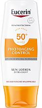 Парфюми, Парфюмерия, козметика Ултралек слънцезащитен лосион за тяло - Eucerin Photoaging Control Sun Lotion Extra Light SPF 50+