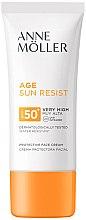 Парфюмерия и Козметика Слънцезащитен крем за лице - Anne Moller Age Sun Resist Protective Face Cream SPF50+