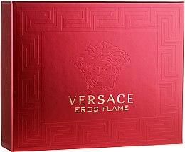 Парфюмерия и Козметика Versace Eros Flame - Комплект (тоал. вода/50ml+душ гел/50ml+афтър. балсам/50ml)