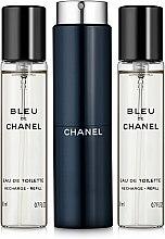 Парфюмерия и Козметика Chanel Bleu de Chanel - Тоалетна вода (edt/20ml + refilles/2x20ml)