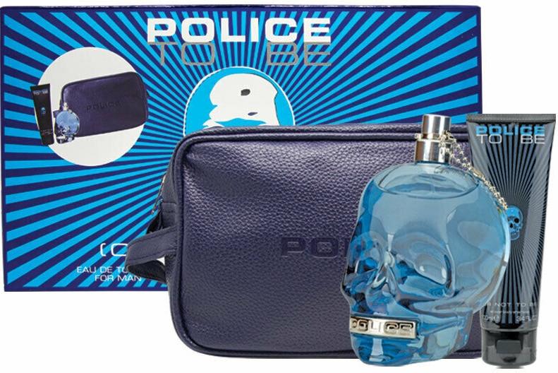 Police To Be Men - Комплект (тоал. вода/125ml + душ гел/100ml + несесер)