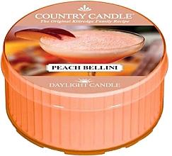 Парфюмерия и Козметика Чаена свещ - Country Candle Peach Bellini Daylight
