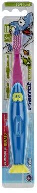 """Детска четка за зъби """"Акула"""", синьо с розово - Pierrot Kids Sharky Soft — снимка N1"""