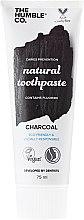 """Парфюмерия и Козметика Паста за зъби """"Дървен въглен"""" - The Humble Co. Natural Toothpaste Charcoal"""