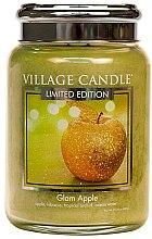 Парфюми, Парфюмерия, козметика Ароматна свещ в бурканче - Village Candle Glam Apple Glass Jar