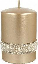 Парфюмерия и Козметика Декоративна свещ, златна, 7х10см - Artman Crystal Opal Pearl