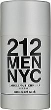 Парфюмерия и Козметика Carolina Herrera 212 For Man NYC - Стик дезодорант