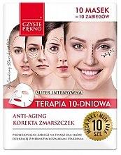 "Парфюми, Парфюмерия, козметика Маска за лице ""10-дневна терапия. Подмладяване"" - Czyste Piekno Anti-age Therapy 10 Days"