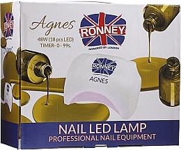 Парфюмерия и Козметика Лампа LED за нокти, черна - Ronney Profesional Agnes Pro LED 48W (GY-LED-032)
