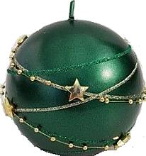 Парфюмерия и Козметика Декоративна свещ, топка, зелена 8см - Artman Christmas Garland