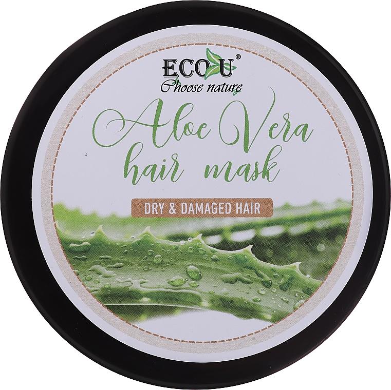 Маска за суха и изтощена коса с алое - Eco U Aloe Mask