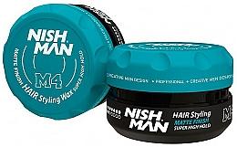 Парфюмерия и Козметика Стилизиращ восък за коса с матов ефект - Nishman Matte Finish Super High Hold Wax M4