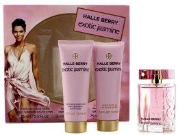 Парфюмерия и Козметика Halle Berry Exotic Jasmine - Комплект (edp 30ml+b/lot 75ml+sh/gel 75ml)