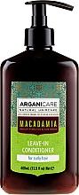 Парфюмерия и Козметика Балсам без отмиване за къдрава коса с арганово масло и макадамия - Arganicare Macadamia Leave-In Conditioner
