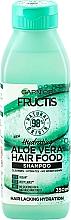 Парфюмерия и Козметика Овланяващ шампоан за коса с алое вера - Garnier Fructis Aloe Vera Hair Food Shampoo