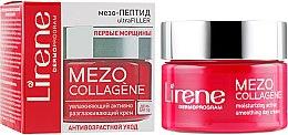 """Парфюмерия и Козметика Овлажняващ активен лифтинг дневен крем за лице """"Първи бръчки"""" - Lirene Mezo Collagene"""