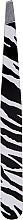 Парфюмерия и Козметика Скосена пинсета за вежди, 498738, черно-бяла - Inter-Vion