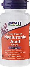 Парфюмерия и Козметика Хиалуронова киселина на капсули - Now Foods Hyaluronic Acid 100 mg
