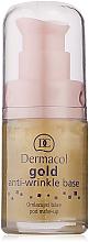Парфюмерия и Козметика Основа за грим за подмладяване с активно злато - Dermacol Base Gold Anti-Wrinkle (с дозатор)