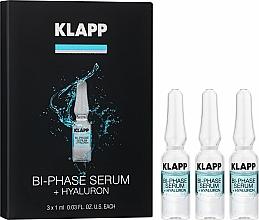 Парфюмерия и Козметика Двуфазен хиалуронов серум за лице - Klapp Bi-Phase Serum Hyaluron