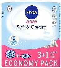 Парфюми, Парфюмерия, козметика Детски мокри кърпички 4x63 бр - Nivea Baby Soft & Cream