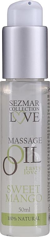 "Масажно масло ""Сладко манго"" - Sezmar Collection Love Massage Oil Sweet Mango"