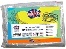 Парфюмерия и Козметика Еднократна фризьорска пелерина - Ronney Professional Hairdressing Cape