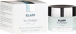 Парфюми, Парфюмерия, козметика Подхранващ дневен и нощен крем-мус за лице - Klapp Sea Delight Day & Night Mousse Rich