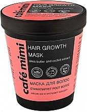 """Парфюмерия и Козметика Маска за коса """"Стимулира растежа на косата"""" - Cafe Mimi Mask"""
