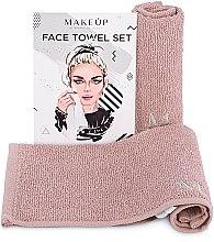 """Парфюмерия и Козметика Комплект кърпи за лице в бежов цвят """"MakeTravel"""" - Makeup Face Towel Set"""