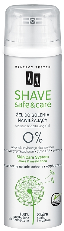 Гел за бръснене - AA Shave Safe&Care