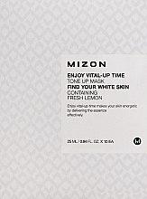 Парфюмерия и Козметика Изсветляваща памучна маска за лице с екстракт от лимон - Mizon Enjoy Vital-Up Time Tone Up Mask