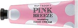 """Парфюми, Парфюмерия, козметика Подхранващ крем за ръце """"Розов Бриз"""" - Duft & Doft Nourishing Hand Cream Pink Breeze Peach & Peony"""