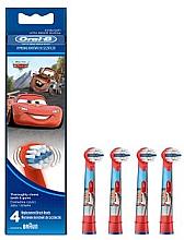 Парфюмерия и Козметика Резервни глави за детска четка за зъби EB10-4, Cars - Oral-B Stages Power Disney