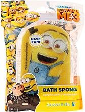"""Парфюми, Парфюмерия, козметика Детска гъба за баня """"Миньоните"""", светлосиня, щастлив миньон - Suavipiel Minnioins Bath Sponge"""
