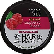 """Парфюми, Парфюмерия, козметика Маска за коса """"Малина и акай"""" - Organic Shop Raspberry & Acai Hair Mask"""
